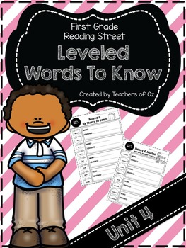 Reading Street Words To Know UNIT 4