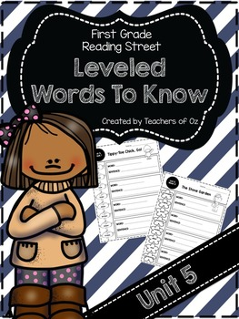 Reading Street Words To Know UNIT 5