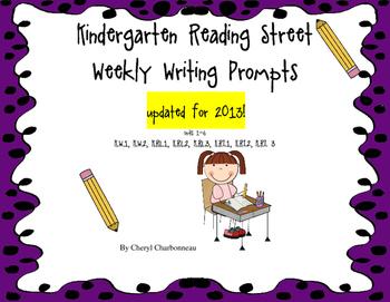 Reading Street Writing Prompts for Kindergarten (2013)