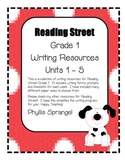 Reading Street Writing Resources