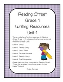 Reading Street Writing Resources Unit 1