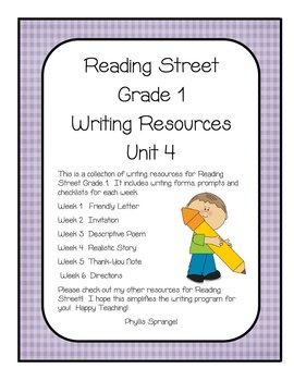 Reading Street Writing Resources Unit 4