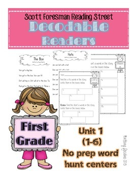 Reading Street decodable readers unit 1 weeks 1-6 FIRST GRADE