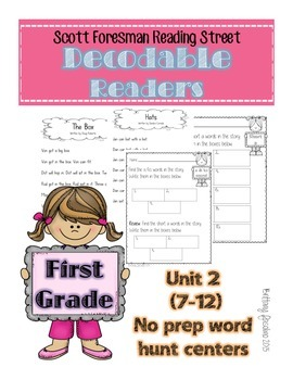 Reading Street decodable readers unit 2 weeks 7-12 FIRST GRADE