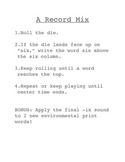 Reading Street short i final x - A Record Mix Activity