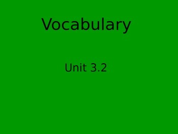 Reading Street vocabulary flipchart 3.3 Jan's New Home