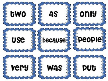 Reading Street word wall cards grade 2