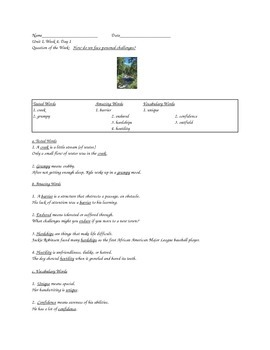 Reading Street/Grade 5/Unit 1, Week 4, Day 1-Day 5