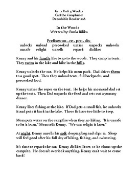 Reading Streets Decodable Reader Sheet 22A Unit 5 Wk 2 Carl the Complainer