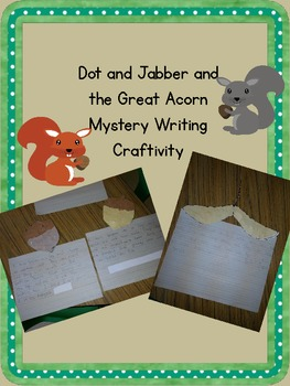 Reading Street's Dot and Jabber Writing Craftivity Acorns and Maple Seeds