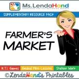 Reading Street, FARMERS MARKET, Teacher Pack by Ms. Lendahand:)