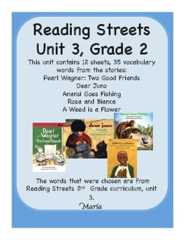 Reading Streets Grade 2 Unit 3 Vocabulary