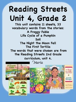Reading Streets Grade 2 Unit 4 Vocabulary Words