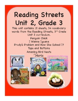 Reading Streets Grade 3 Unit 2 Vocabulary Cards