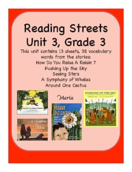 Reading Streets Grade 3 Unit 3 Vocabulary Cards