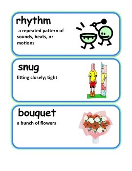 Reading Streets Grade 3 Unit 5 Vocabulary Cards