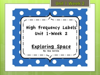 Reading Streets High Frequency Words- Unit 1 Week 2 -2nd grade