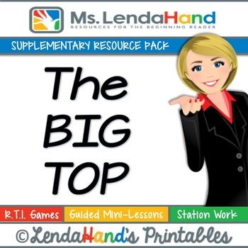 Reading Street, THE BIG TOP Teacher Pack by Ms. Lendahand:)