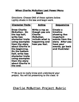 Reading Streets-When Charlie McButton Lost Power Project M