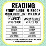Reading Study Guide Flipbook - State Assessment - Middle School