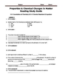 Reading Study Guide for McGraw Hill iScience 8th Grade Cha