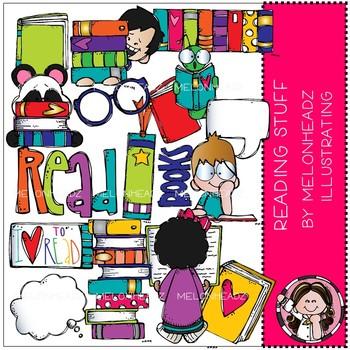 Reading Stuff clip art - COMBO PACK - Melonheadz Clipart
