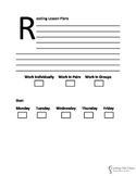 Reading Substitute Lesson Plan Form