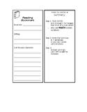 Reading & Summarizing Bookmark