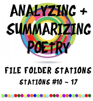 Reading, Summarizing, and Analyzing Poetry Classroom Stations