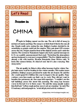 Reading: Sunrise in China