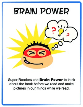 Reading Super Powers - Super Readers - Posters - BLUE Border