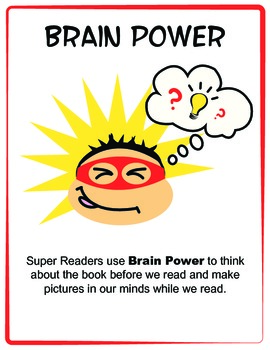Reading Super Powers - Super Readers - Posters - RED Border
