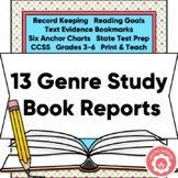 Genre Study Book Reports: Year-Long State Test Prep CCSS 3-6