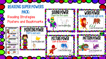 Reading SuperPowers: Reading Strategies Posters and Bookmarks pack