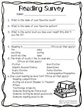 Reading Survey {Grades 3-6}