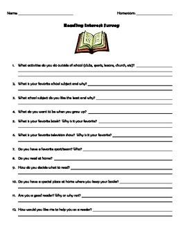 Reading Survey