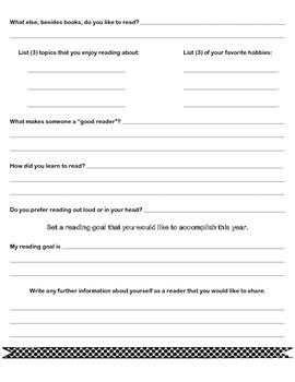 Reading Survey: My Reading Profile