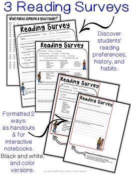 Reading Surveys for Back-to-School