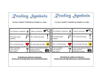 Reading Symbols for Making Text Connections