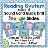 Reading System Steps 1-12 Distance Learning Sound Card Quick Drill Google Slides