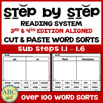 Reading System Sub Steps 1.1 through 1.6 Word Sorts (3rd & 4th Edition Aligned)