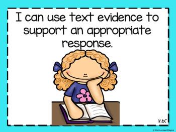Reading TEKs Posters for Kindergarten- Editable