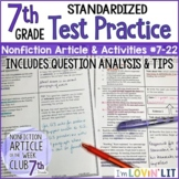Reading TEST PREP:  7th Grade Reading Informational Text TEST PRACTICE