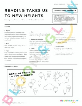 Reading Takes Us to New Heights Bulletin Board DIY Kit