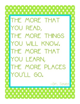 Reading Takes You Places Poster FREE