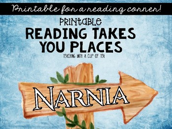 Reading Takes You Places! Printable Wall Decor for your classroom library
