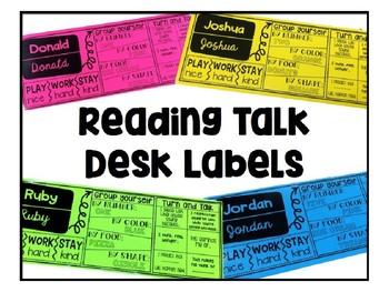 Reading Talk Desk Labels