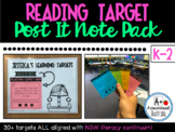 Reading Target 'Post It Note' Pack (K-2)