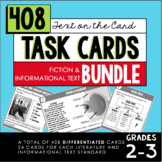 Reading Task Card BUNDLE (2nd-3rd Grade Fiction & Informational Text)