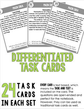 Reading Task Card BUNDLE (4th-5th Grade Fiction & Informational Text)